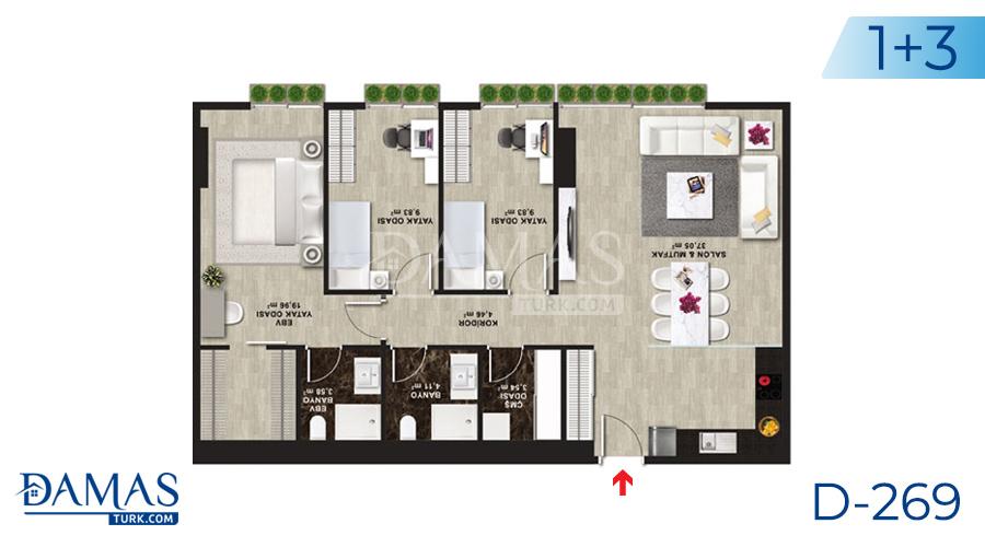 مجمع داماس 269 في اسطنبول - صورة مخطط 05