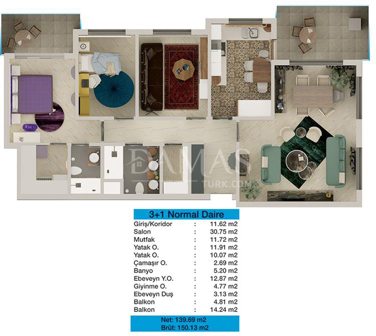 مجمع مجموعة داماس 204 في بورصة - صورة المخطط 05