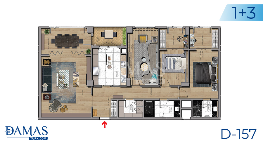 Damas Project D-157 in Istanbul - Floor plan picture 05