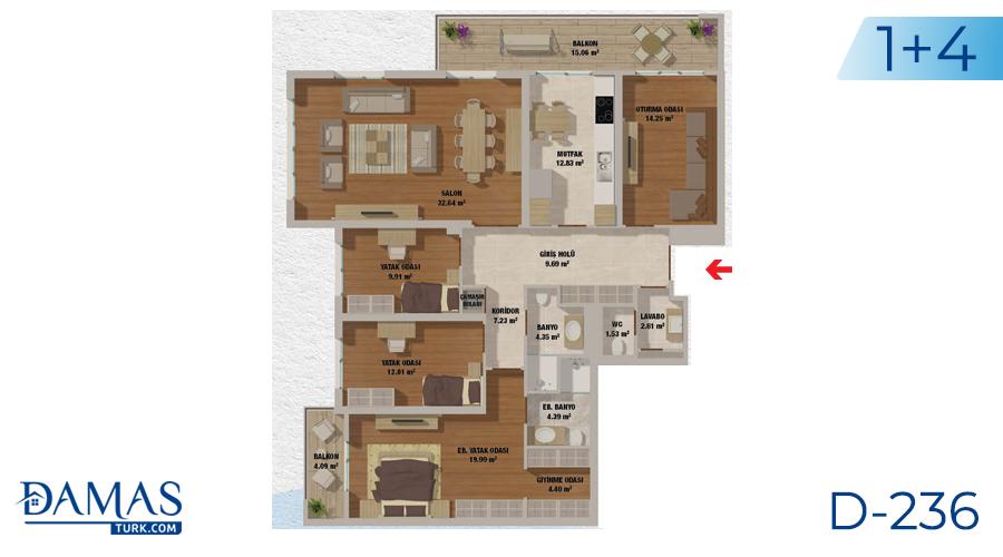 مجمع مجموعة داماس 236 في اسطنبول - صورة مخطط 05