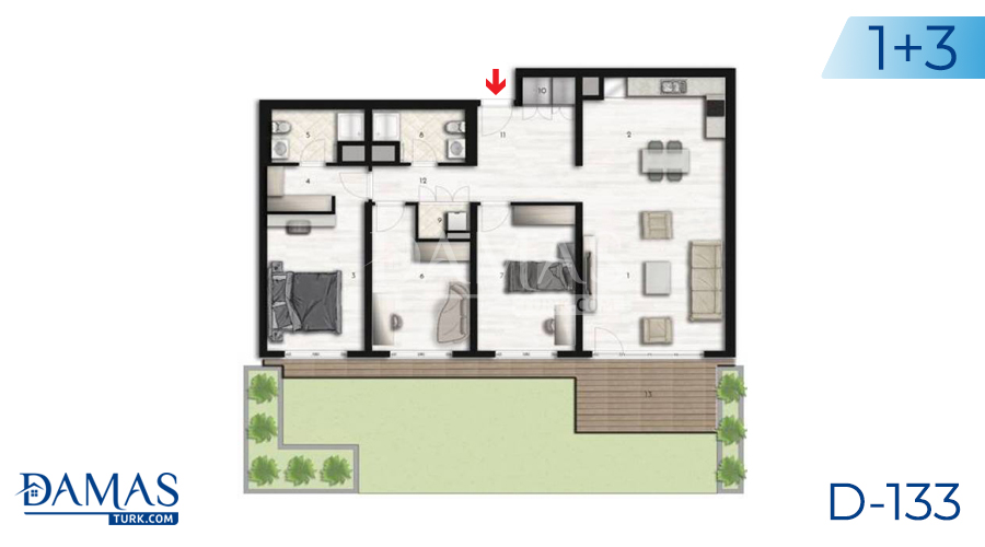 Damas Project D-133 in Istanbul - Floor plan picture 05