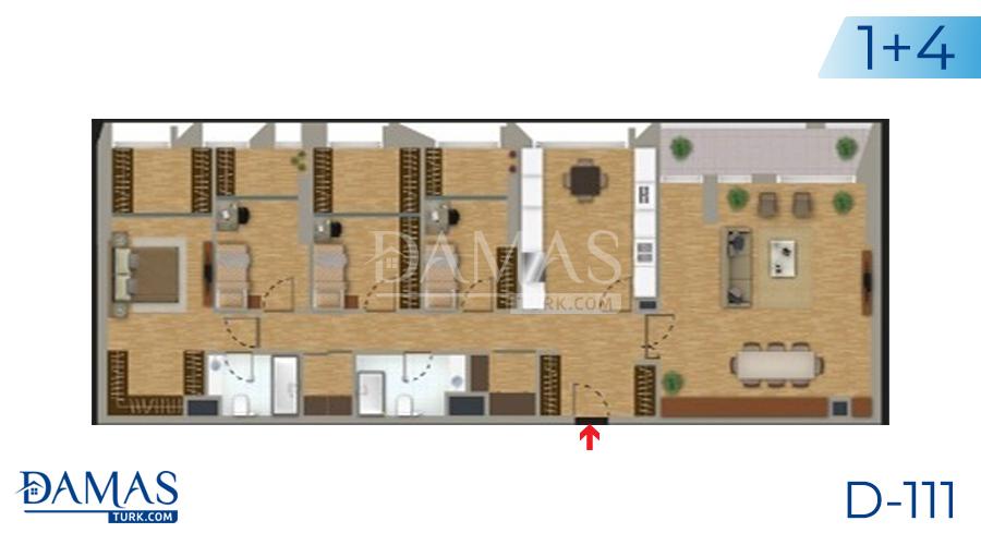 مجمع مجموعة داماس 111 في اسطنبول - صورة مخطط 05