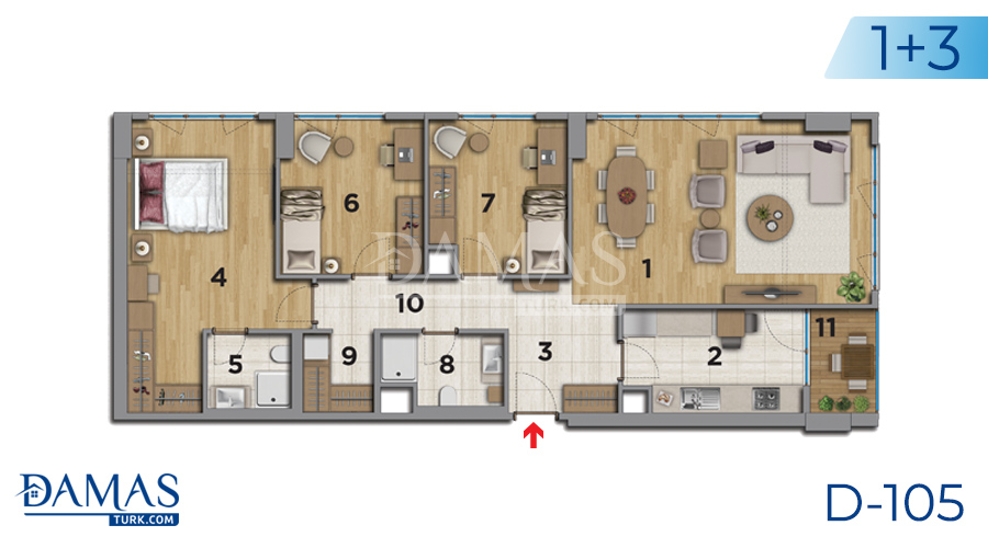 Damas Project D-105 in Istanbul - Floor plan picture 05