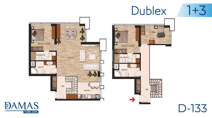 Damas Project D-131 in Istanbul - Floor plan picture 05