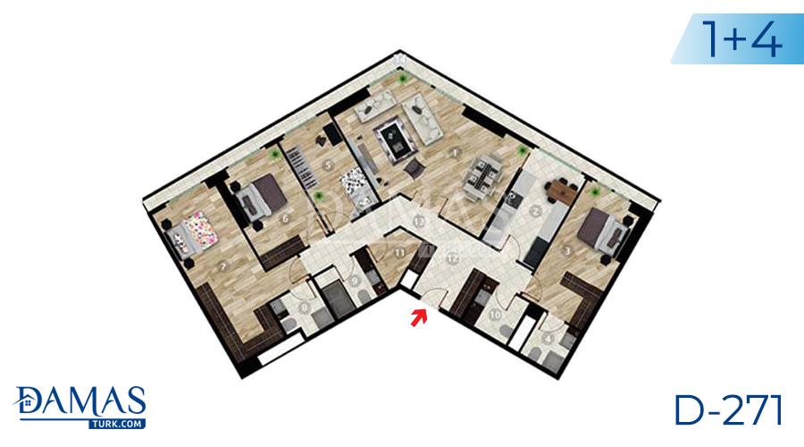 مجمع داماس 271 في اسطنبول - صورة مخطط 05