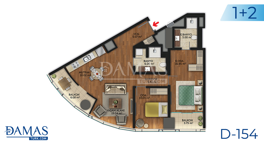 Damas Project D-154 in Istanbul - Floor plan picture 06
