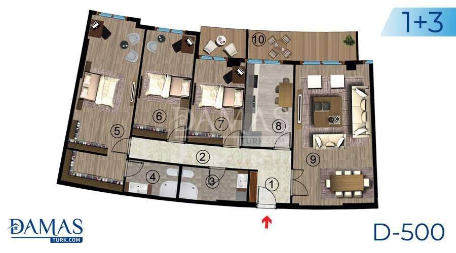 مجمع مجموعة داماس 500 في كوجالي - صورة مخطط 06