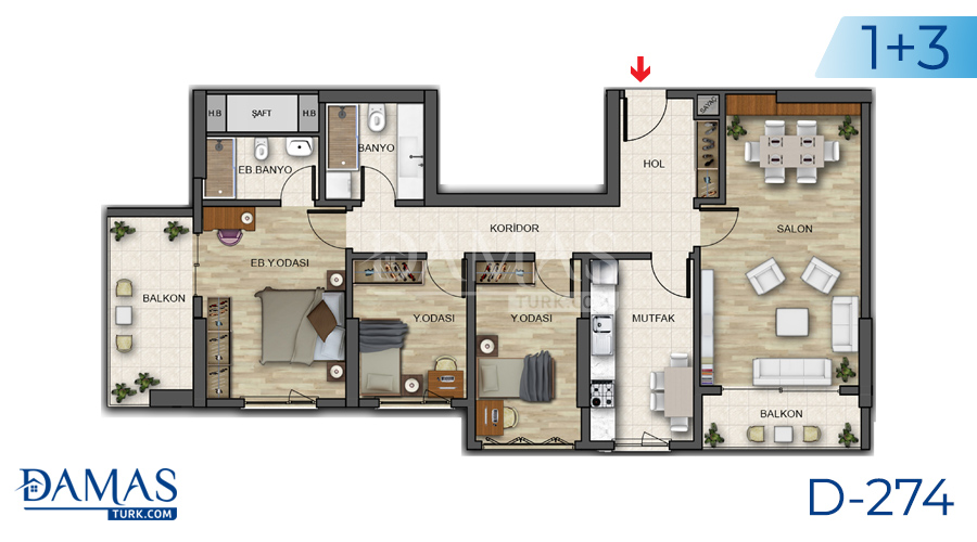 Damas Project D-274 in Istanbul - Floor plan picture 06