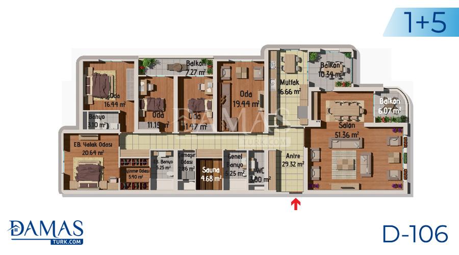 مجمع مجموعة داماس 106 في اسطنبول - صورة مخطط 06