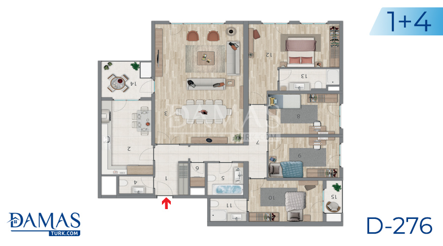 Damas Project D-276 in Istanbul - Floor plan picture 06
