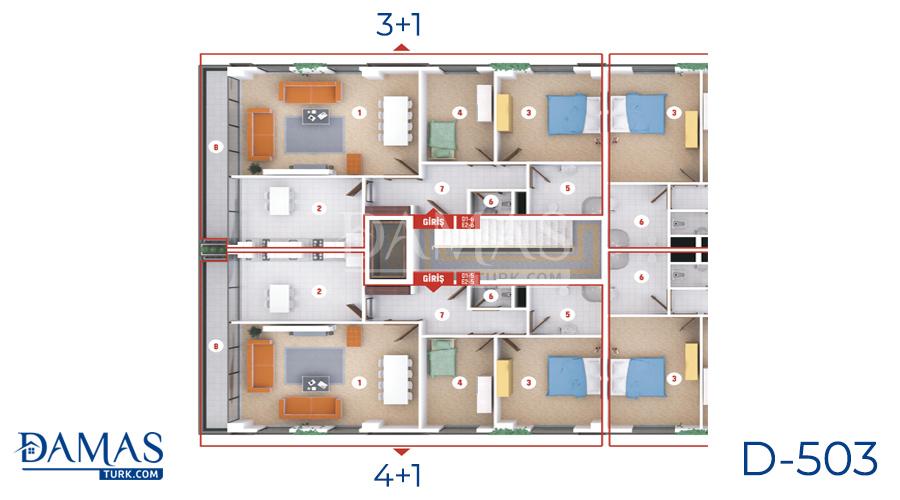 مجمع مجموعة داماس 503 في كوجلي - صورة مخطط 06