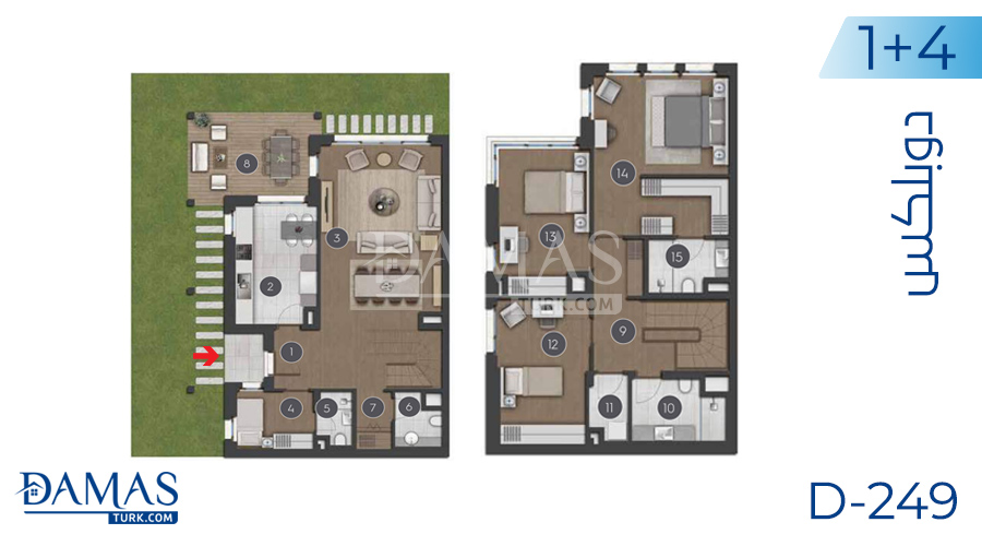Damas Project D-249 in Istanbul - Floor plan picture 06