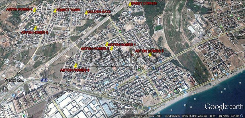 مجمع مجموعة داماس 606 في انطاليا - صورة المخطط 06