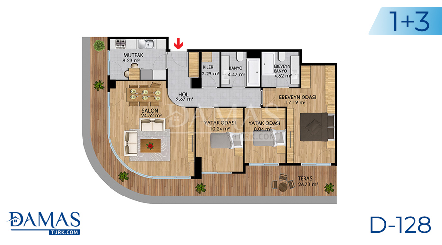 Damas Project D-128 in Istanbul - Floor plan picture 06