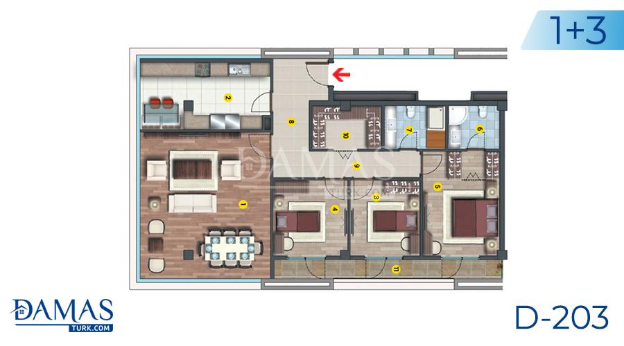 مجمع مجموعة داماس 203 في اسطنبول - صورة مخطط 06