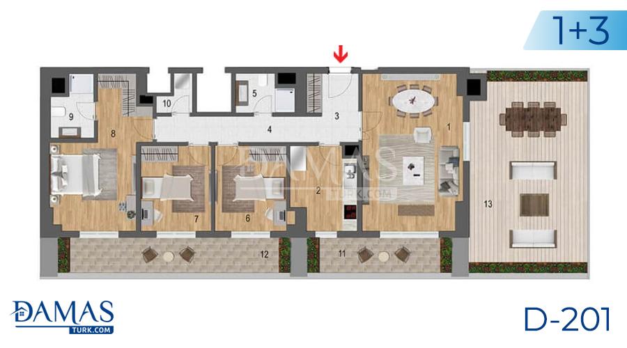 مجمع مجموعة داماس 201 في اسطنبول - صورة مخطط 06