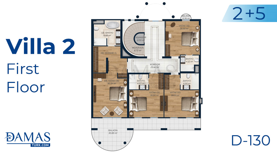 Damas Project D-130 in Istanbul - Floor plan picture 06
