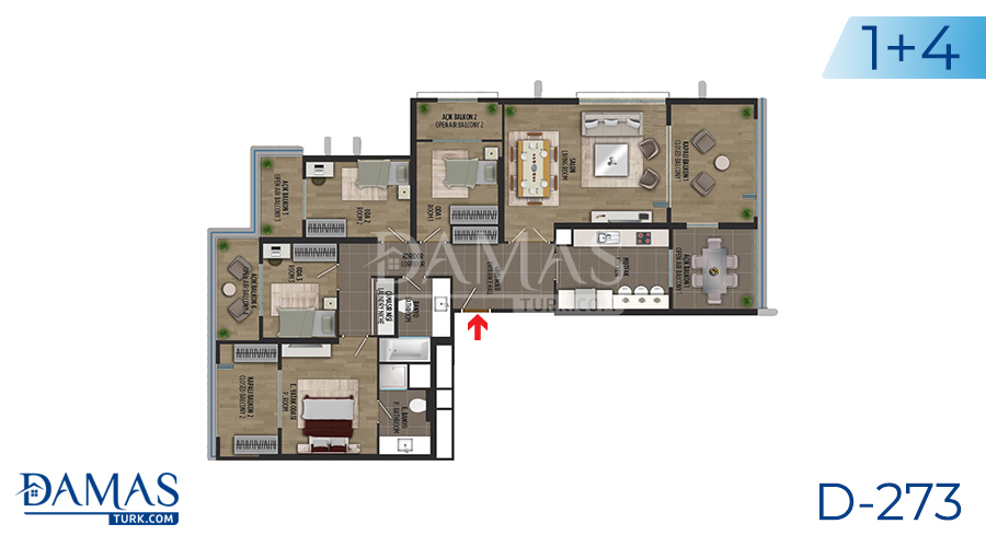 Damas Project D-273 in Istanbul - Floor plan picture 06