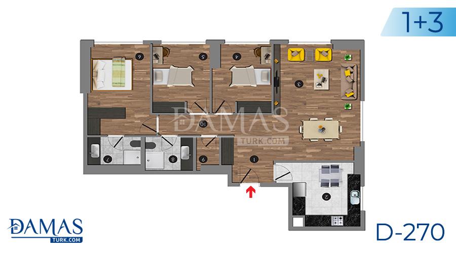 مجمع داماس 270 في اسطنبول - صورة مخطط 06