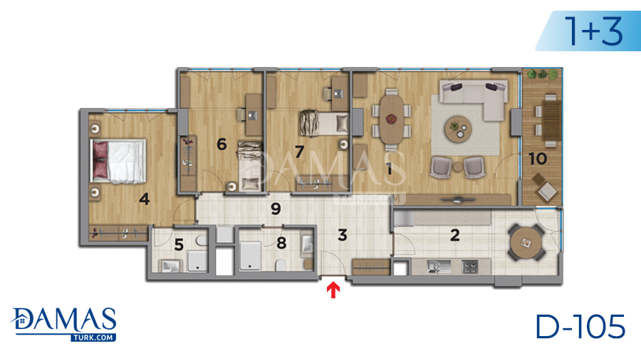 Damas Project D-105 in Istanbul - Floor plan picture 06