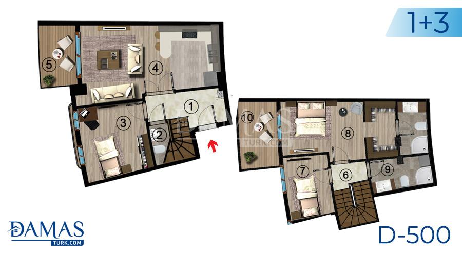 مجمع مجموعة داماس 500 في كوجالي - صورة مخطط 07