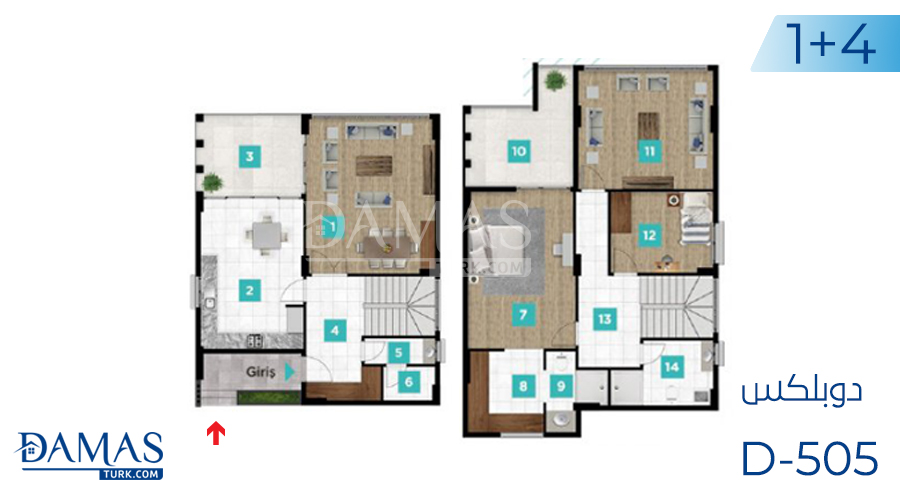 Damas Project D-505 in kocaeli - Floor plan picture  07