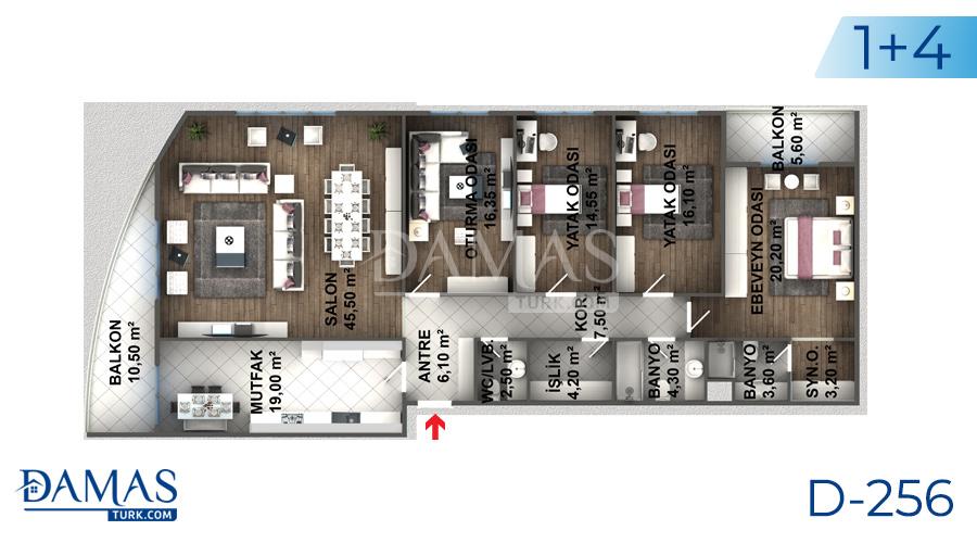 مجمع مجموعة داماس 256 في اسطنبول - صورة مخطط 07