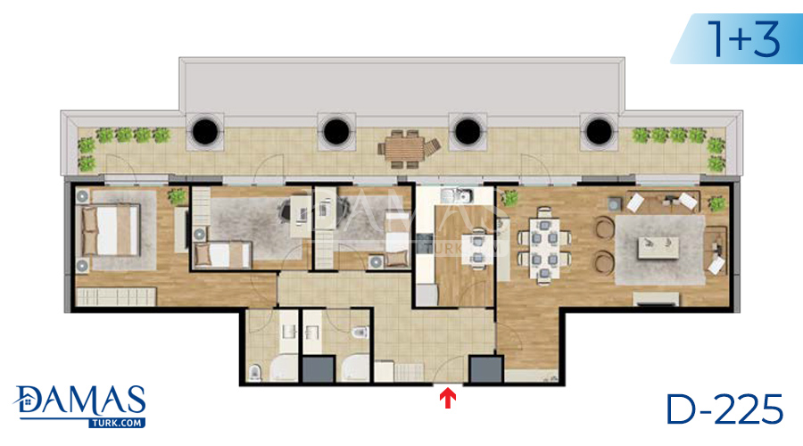 Damas Project D-225 in Istanbul - Floor plan picture  07