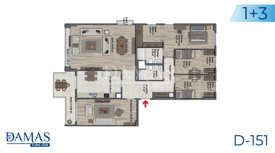 مجمع مجموعة داماس 151 في اسطنبول - صورة مخطط 07