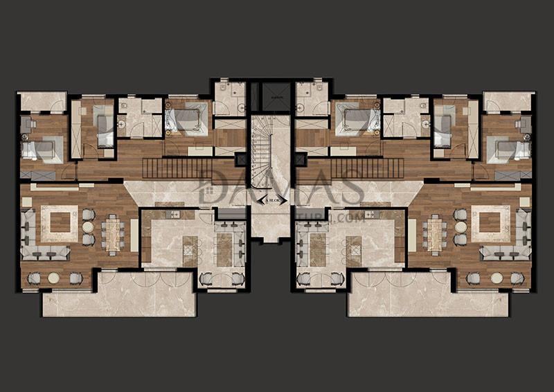 مجمع مجموعة داماس 205 في بورصة - صورة المخطط 07