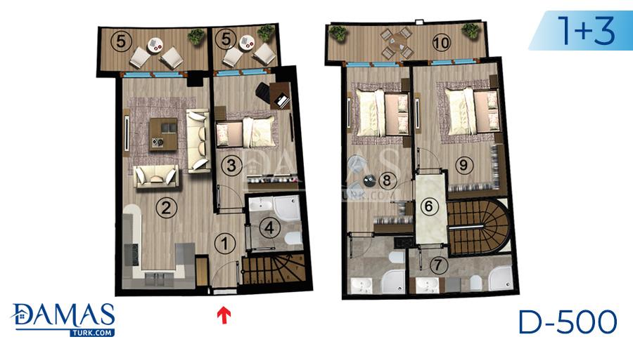 مجمع مجموعة داماس 500 في كوجالي - صورة مخطط 08