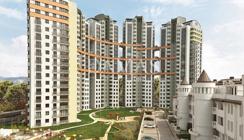 منازل للبيع في بورصة - مجمع مجموعة داماس 206 في بورصة - صورة خارجية 09