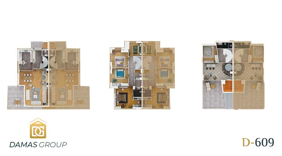 مجمع داماس 609 في انطاليا  - صورة مخطط 01