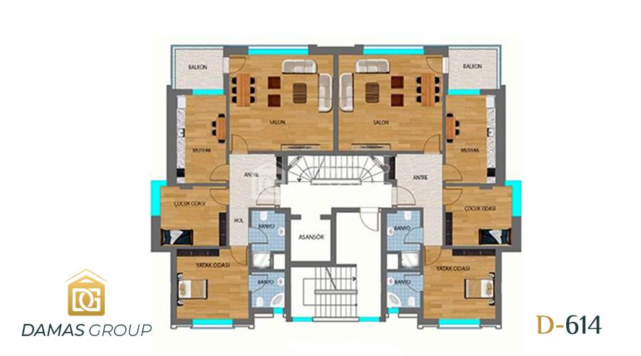 Damas Project D-614 in Antalya - Floor Plan 02