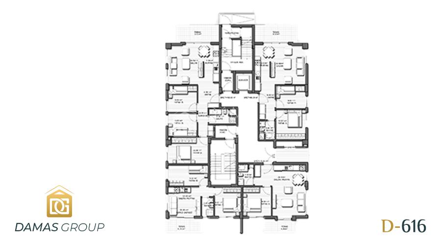 مجمع داماس 616 في انطاليا  - صورة  مخطط 02