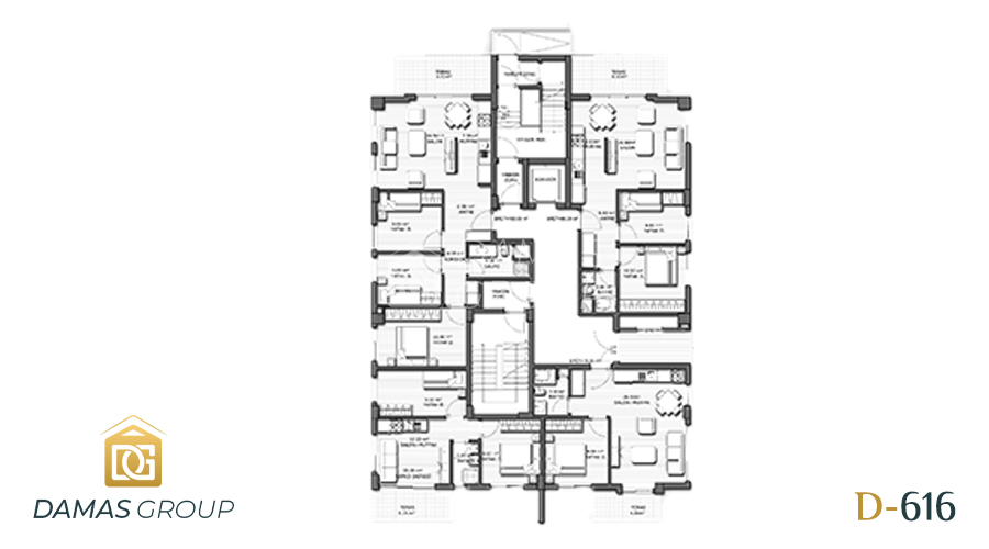 Damas Project D-616 in Antalya - Floor Plan 02