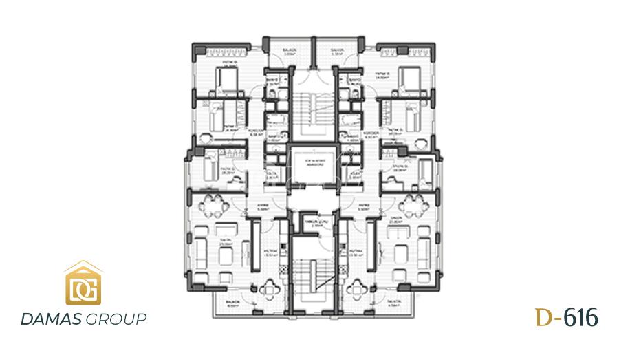 مجمع داماس 616 في انطاليا  - صورة  مخطط 03