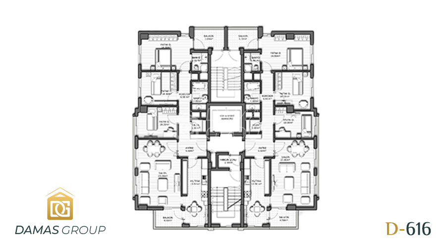 Damas Project D-616 in Antalya - Floor Plan 03