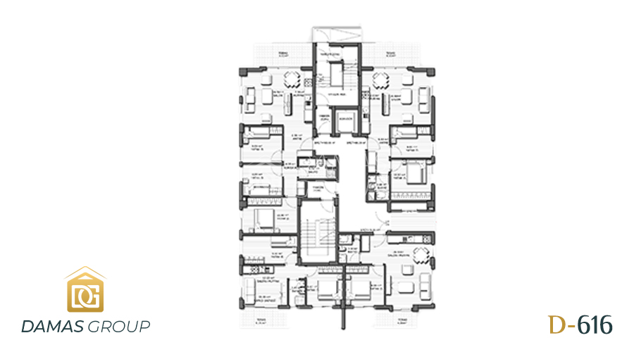 Damas Project D-616 in Antalya - Floor Plan 01