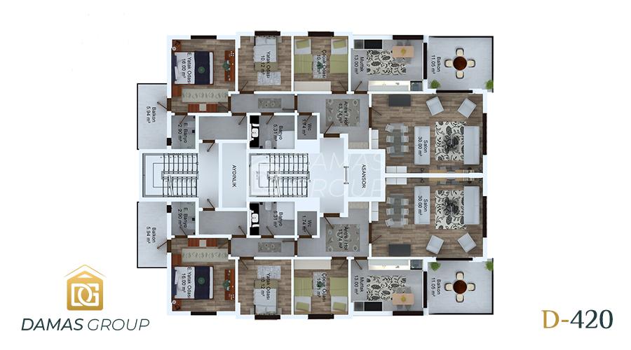 مجمع داماس 420 في طرابزون  - صورة  مخطط 01