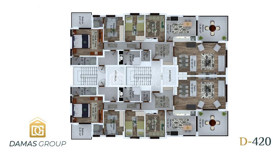 مجمع داماس 420 في طرابزون  - صورة  مخطط 03