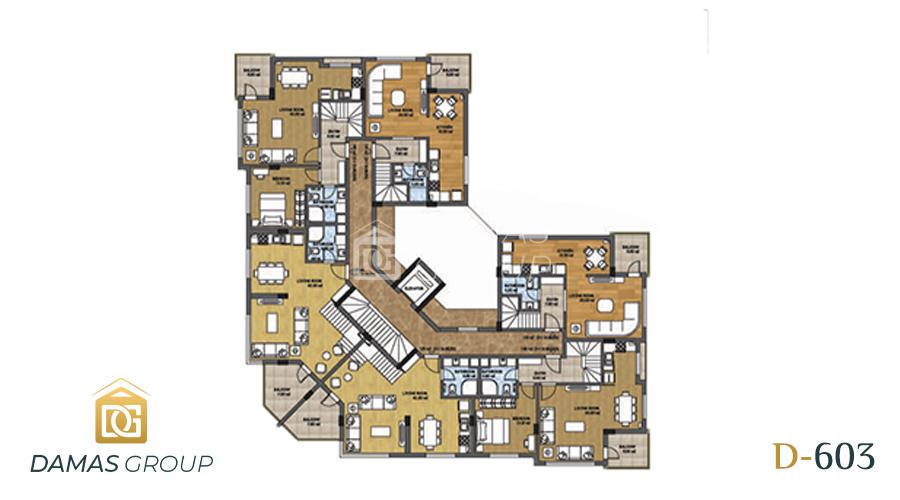 مجمع داماس 603 في انطاليا - صورة مخطط 02