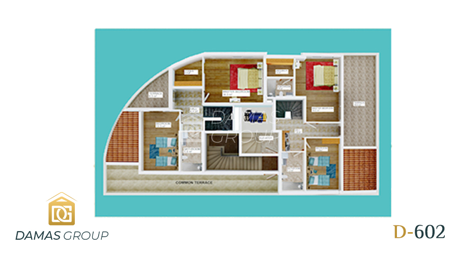 Damas Project D-602 in Antalya - Floor Plan 02