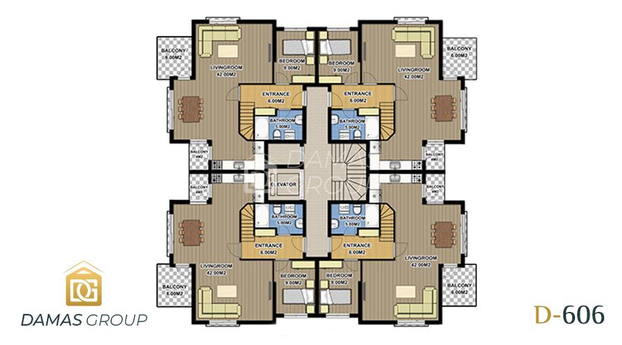 مجمع داماس 606 في انطاليا  - صورة مخطط 02
