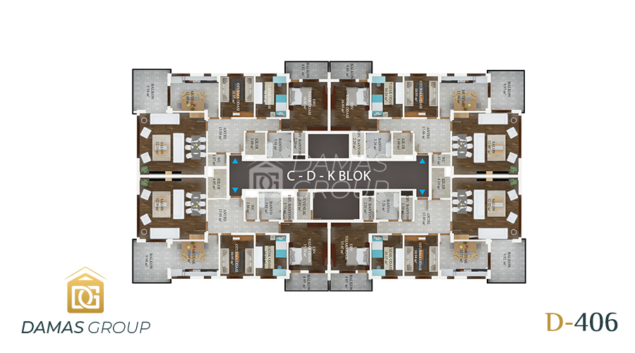 Damas Project D-406 in Trabzon - Floor Plan 02