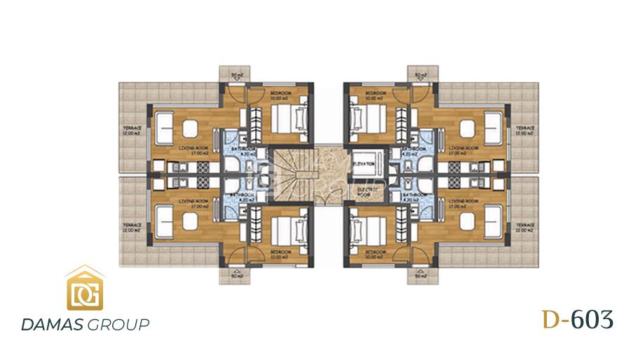 مجمع داماس 603 في انطاليا - صورة مخطط 01