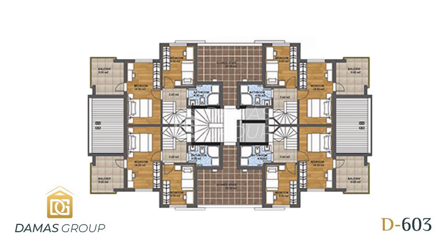 مجمع داماس 603 في انطاليا - صورة مخطط 03