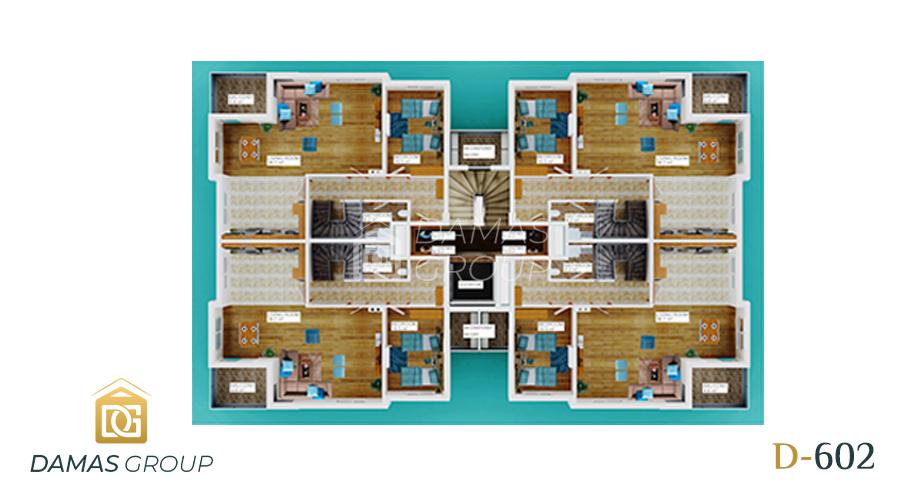Damas Project D-602 in Antalya - Floor Plan 03
