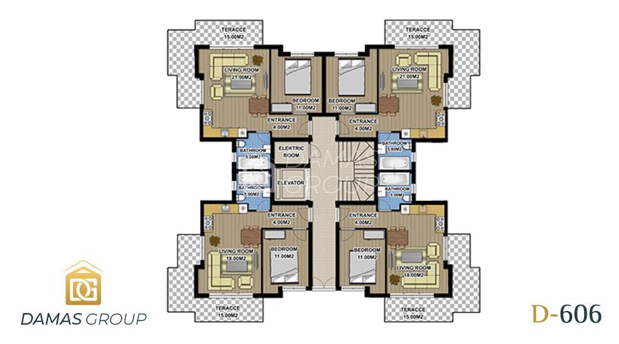 مجمع داماس 606 في انطاليا  - صورة مخطط 04