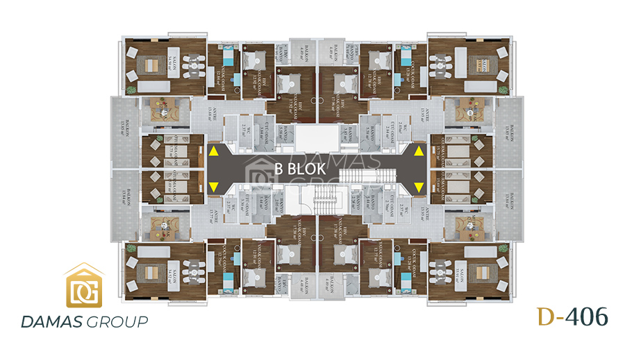 Damas Project D-406 in Trabzon - Floor Plan 04